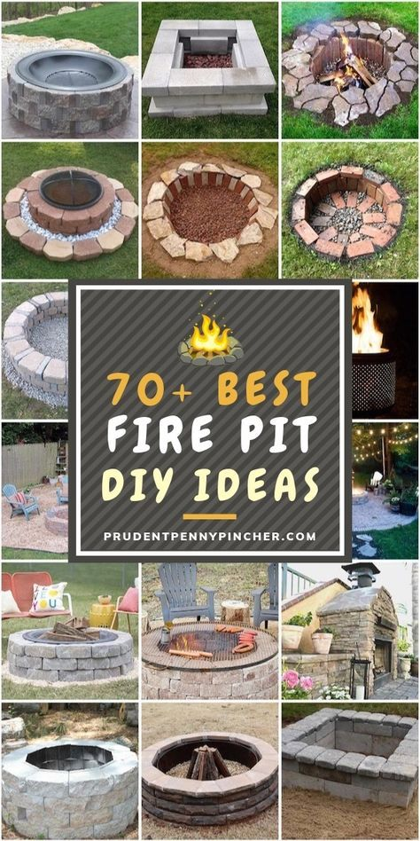 70 Best DIY Fire Pits is part of Fire pit, Diy fire pit, Outside fire pits, Garden fire pit, Cool fire pits, How to build a fire pit - There are DIY fire pits here for every budget, style and skill level so you are sure to find the perfect project for you!