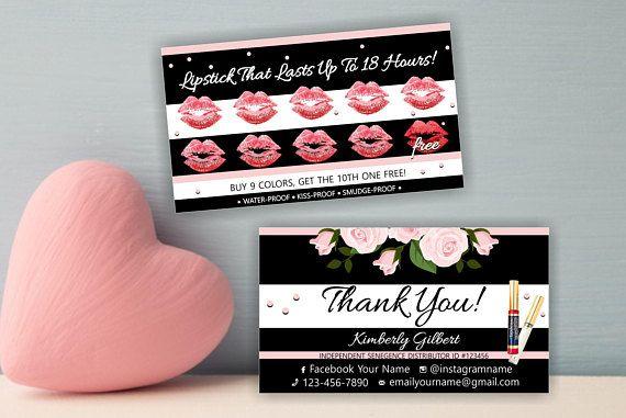 LipSense Loyalty Card * LipSense Thank You Card * LipSense Business - lipsense business card