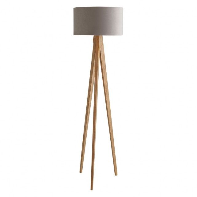 Tripod oak wooden floor lamp with mist velvet shade tripod lamp tripod oak wooden floor lamp with mist velvet shade tripod lamp bases and floor lamp mozeypictures Gallery