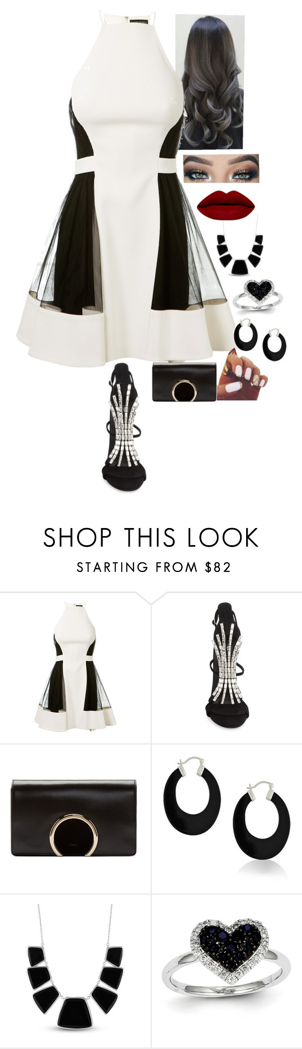 """""""Night out..(special occasion)"""" by purplemonkeys005 on Polyvore featuring beauty, David Koma, Giuseppe Zanotti, Chloé, Bling Jewelry, Karen Kane, Kevin Jewelers and aphrodite"""