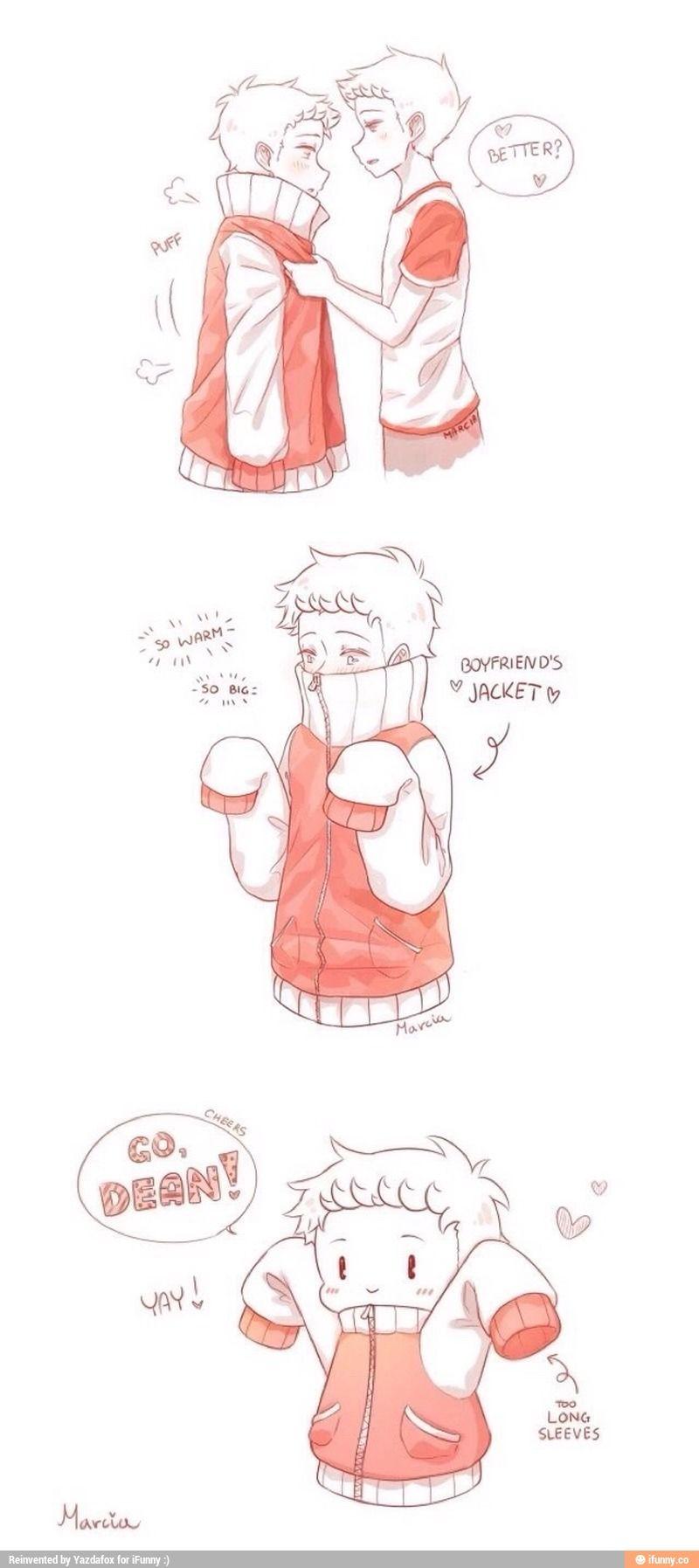 cradit, marcia, destiel, cute BOYFRIEND JACKET!!