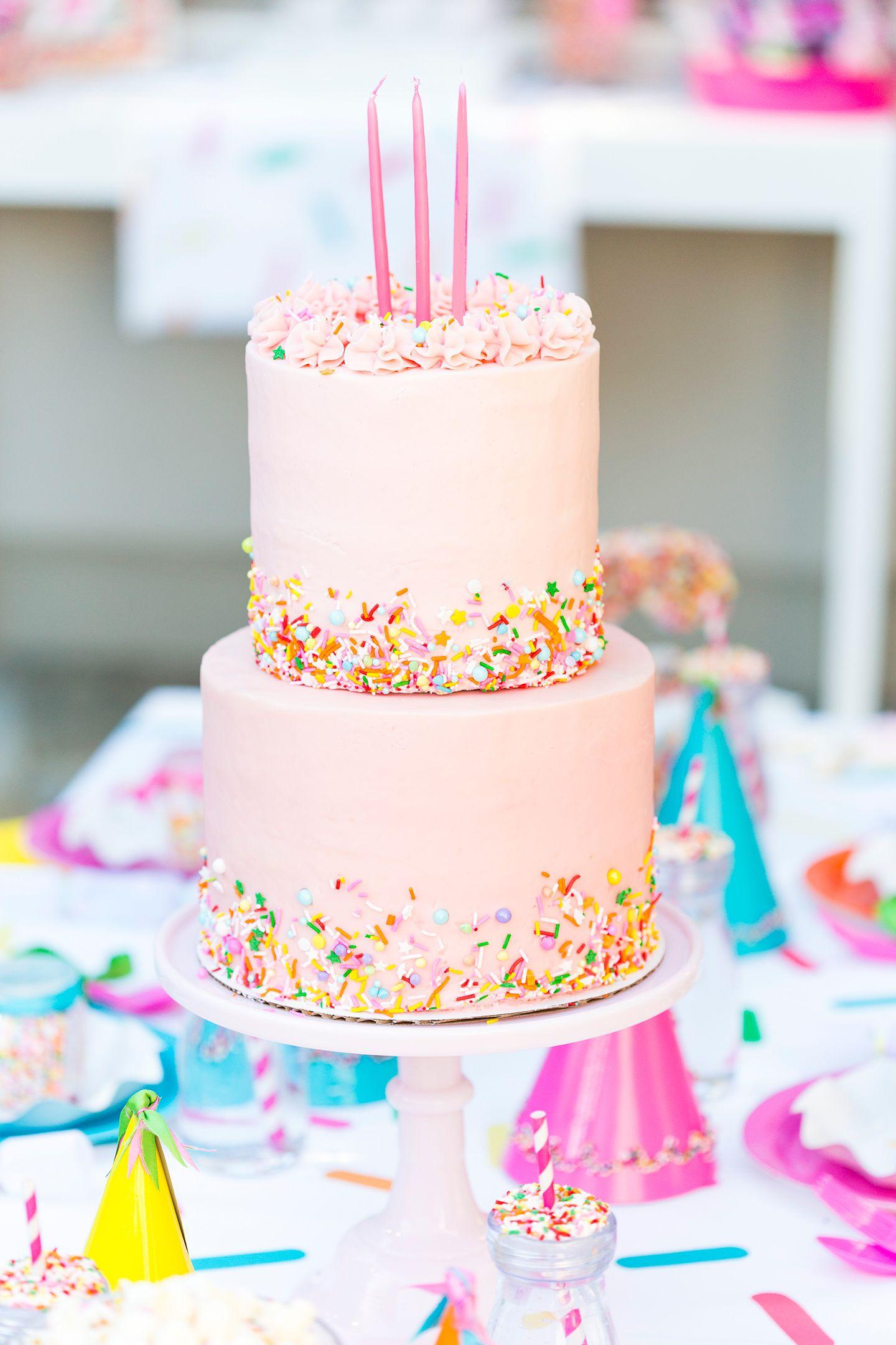 Fantastic Sprinkle Themed Birthday Party 13 Birthday Cake Birthday Cake Kids Personalised Birthday Cards Sponlily Jamesorg