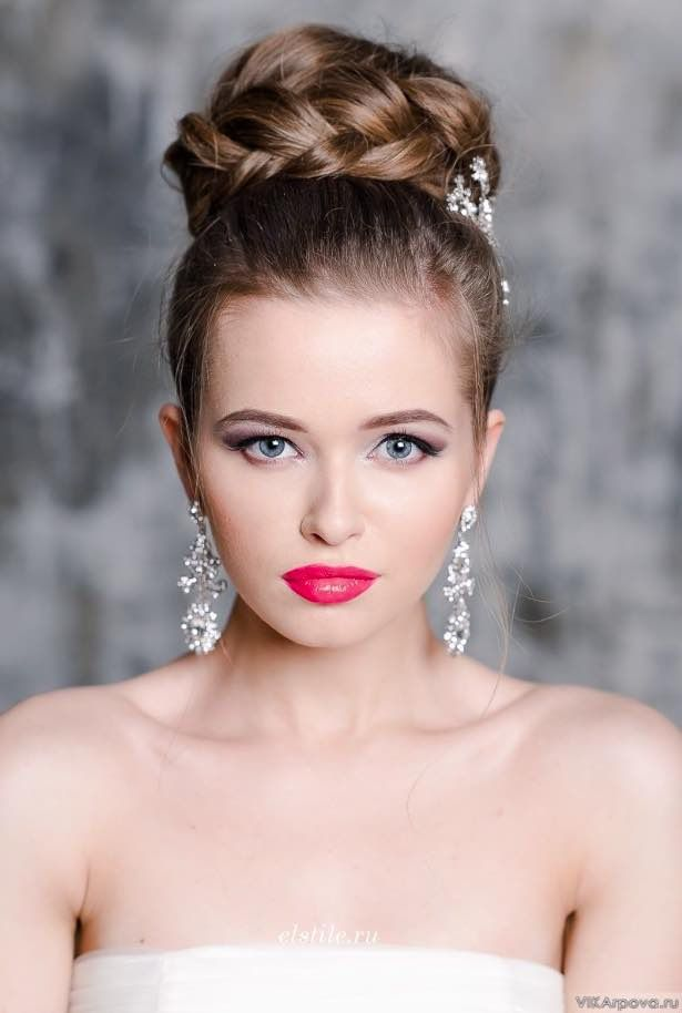 20 Gorgeous Bridal Hairstyle and Makeup Ideas for 2019  6e831ef74fc