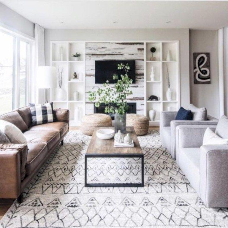Warm And Cozy Farmhouse Style Living Room Decor Ideas 01