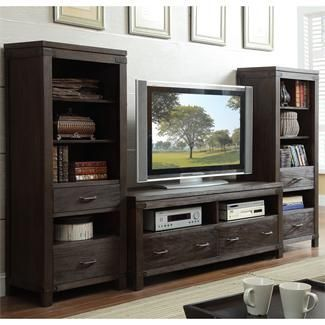 Romany Etagere Pier  $799.99 Sku:106915 Dimensions:24Wx18Dx60H The Romany Etagere is a pier that has two storage drawers and four shelving spaces. It can be used separately or as a group with the matching Romany Collection. It's great for showing off all special memories with family and friends. Please visit our website for warranty and benefits.