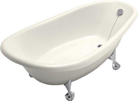 Kohler K 100 7 Black Birthday Bath 72 Cast Iron Clawfoot Soaking Bath Tub With Reversible Drain Faucetdirect Com Clawfoot Bathtub Cast Iron Bath Cast Iron Tub