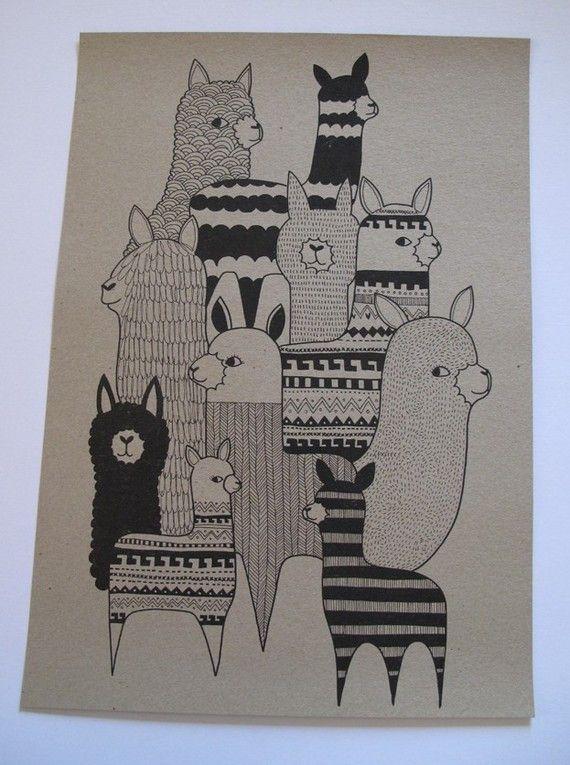 alpacas | Art/Graphics | Pinterest | Alpacas, Zentangle ...