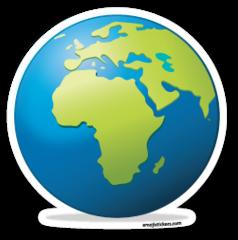 Earth Globe Europe Africa Emojistickers Com Earth Globe Emoji Stickers World Emoji