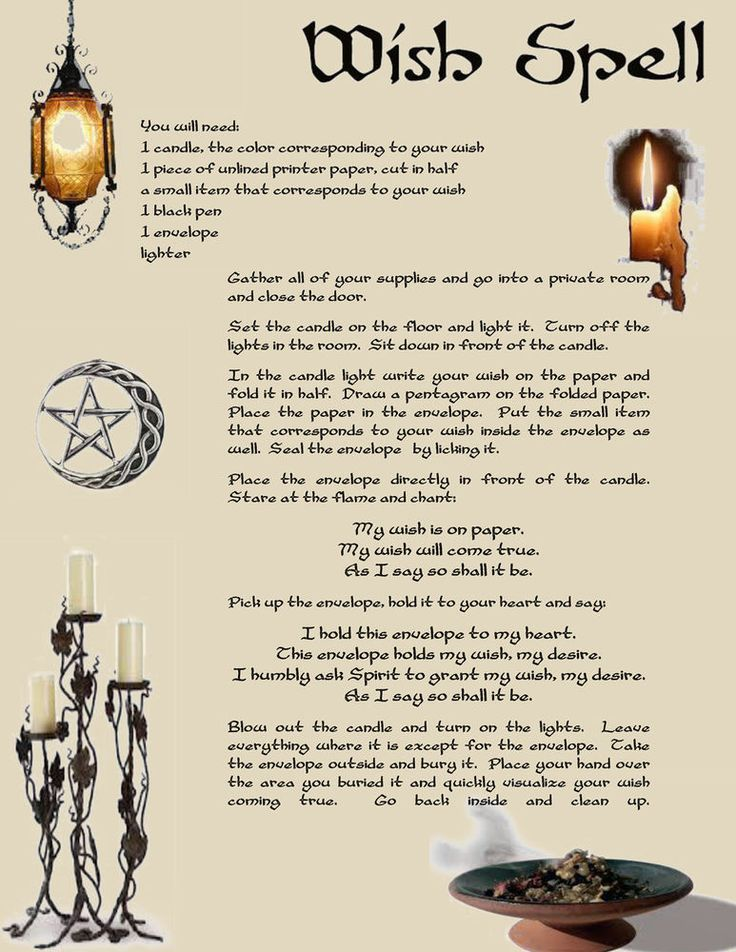 Wish Spell   All things Wicca, Psychic abilities, tarot etc
