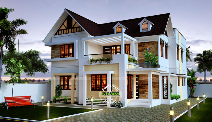 Spectacular Luxury Traditional House With Stunning Interior Kerala House Design New House Plans 4 Bedroom House Designs