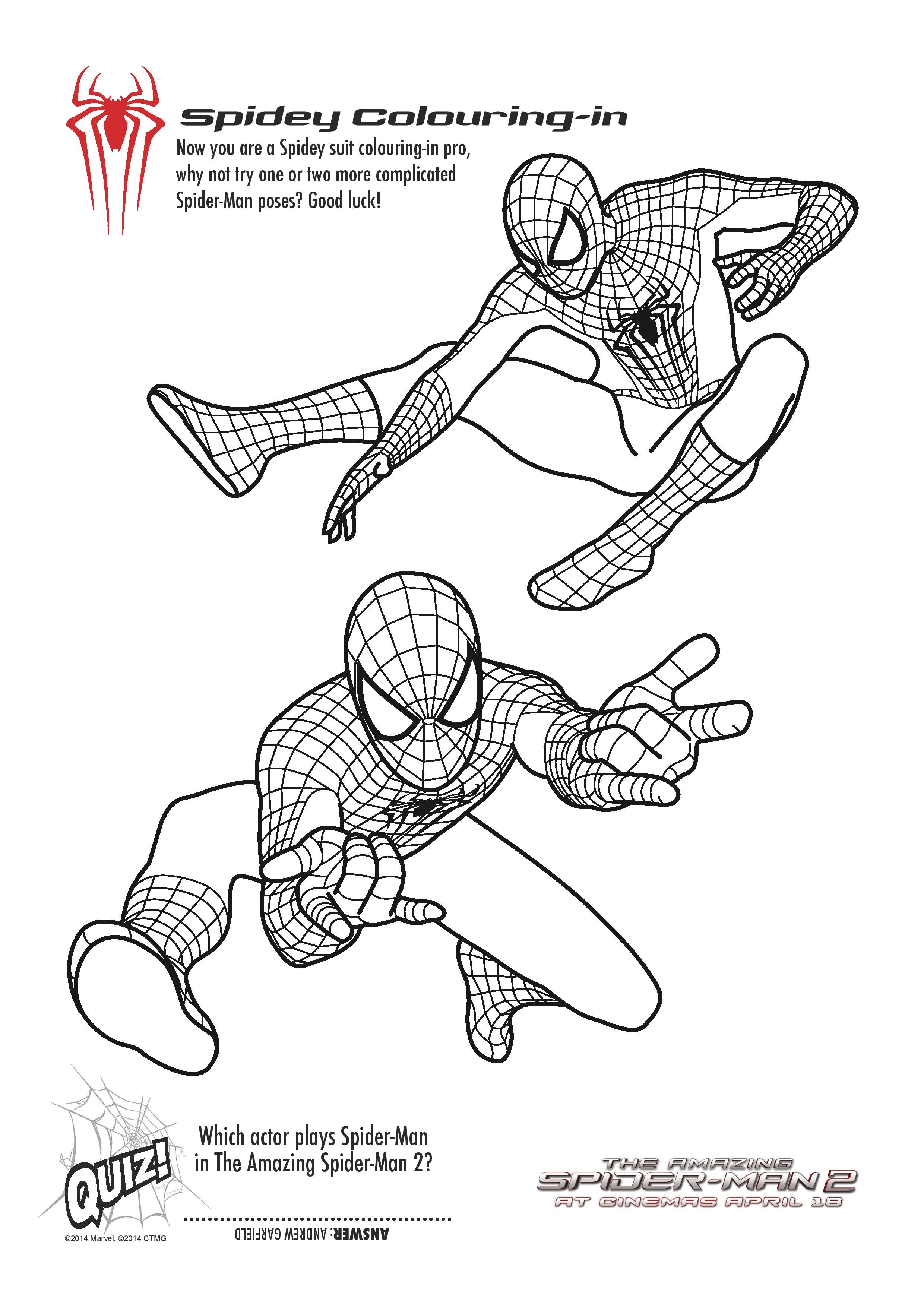 The Amazing Spider Man 3 Coloring Pages Siluet