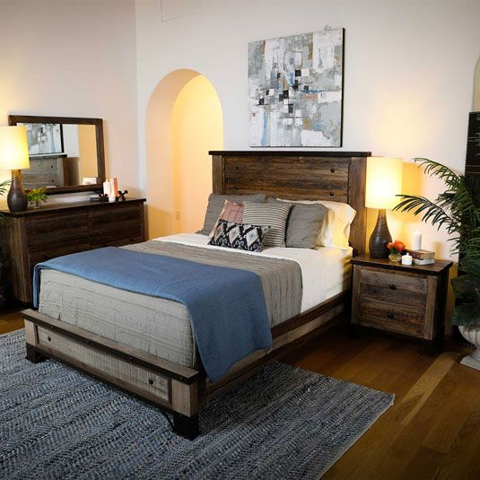 Haven Queen Bed, Dresser, Mirror & Nightstand by Jerome\'s Furniture ...