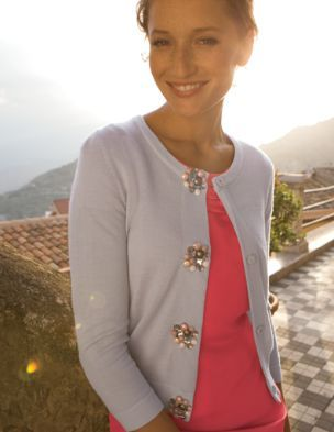 Jewelled Button Cardigan From Boden 98 Love It In Navy Boden