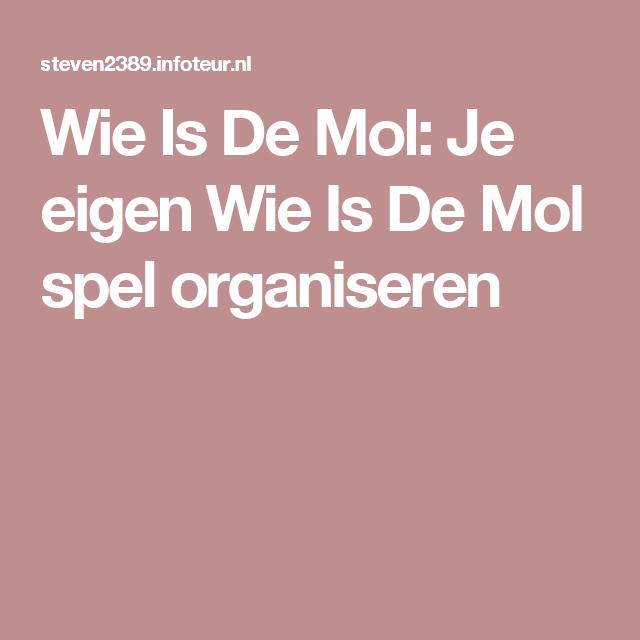 Bedwelming Je eigen Wie Is De Mol spel organiseren | Thuis ontspanning: bonte @WK47