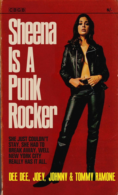 Ramones Sheena Is A Punk Rocker 1960s Pulp Novel Mashup Art