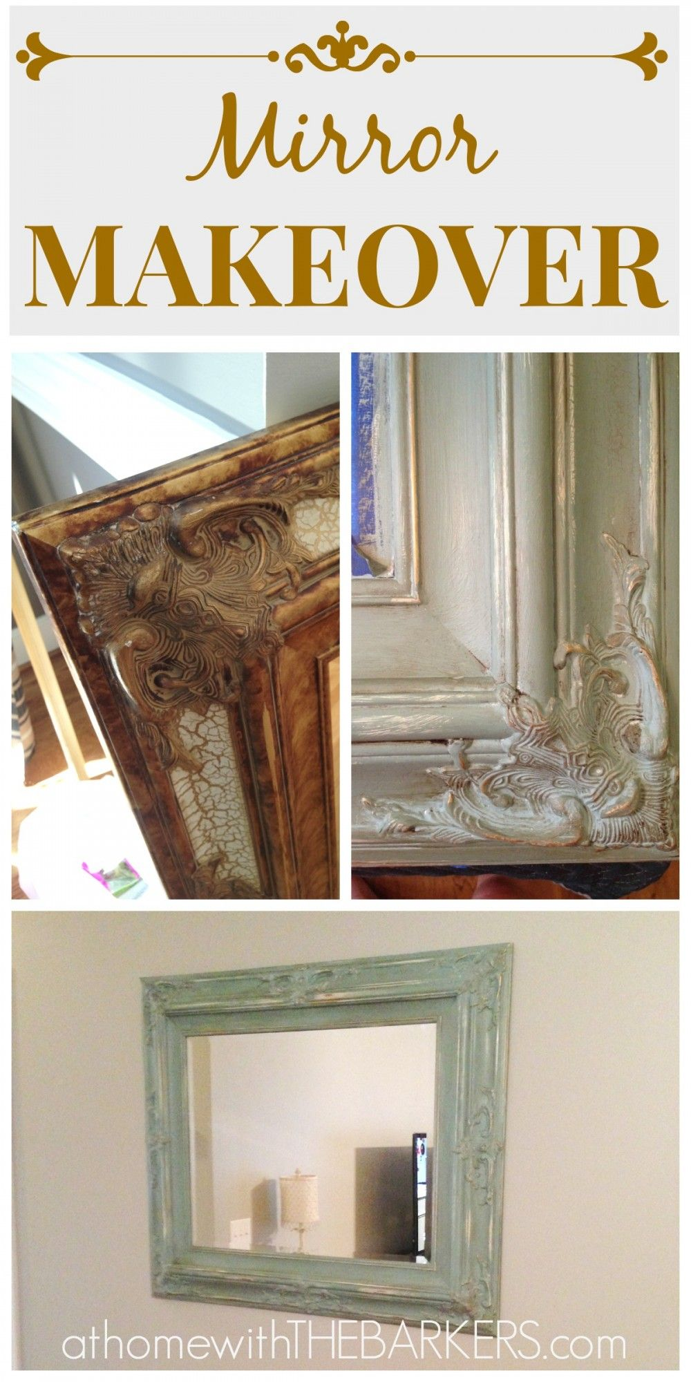 Mirror makeover why buy  new muebles usados restauracion de adornos also dyi art for your home pinterest rh ar