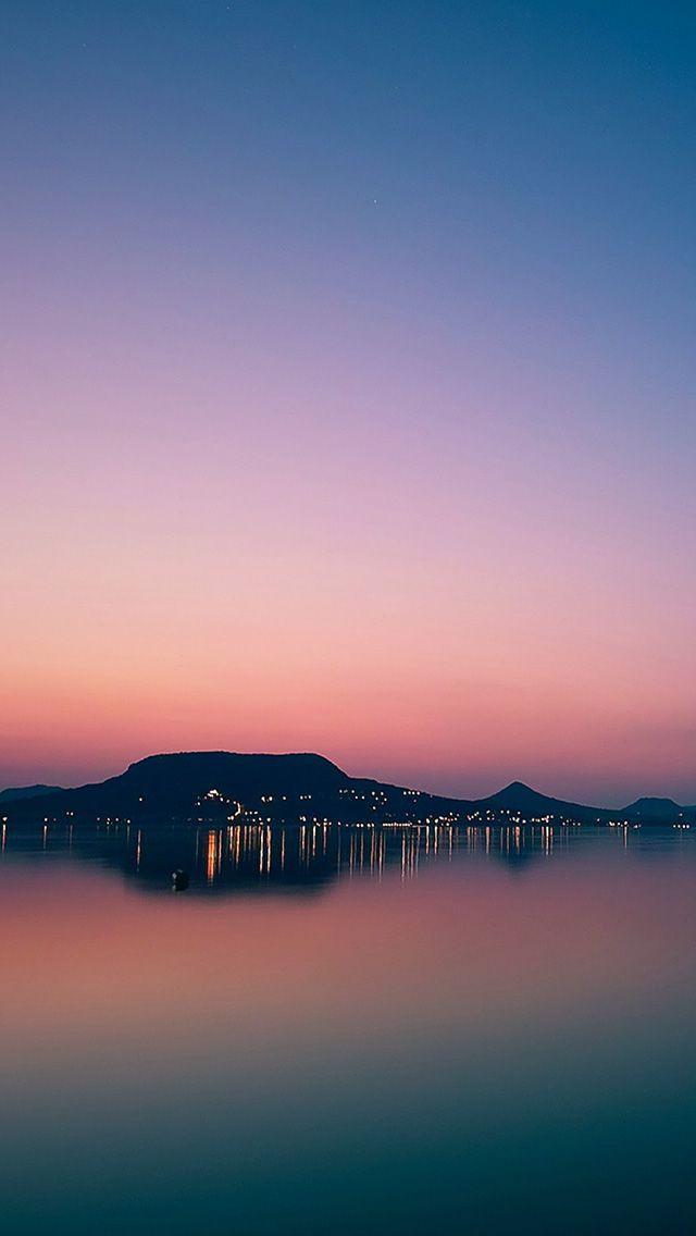 Islan City Purple Sky At Dusk Iphone 5 Wallpaper Hd