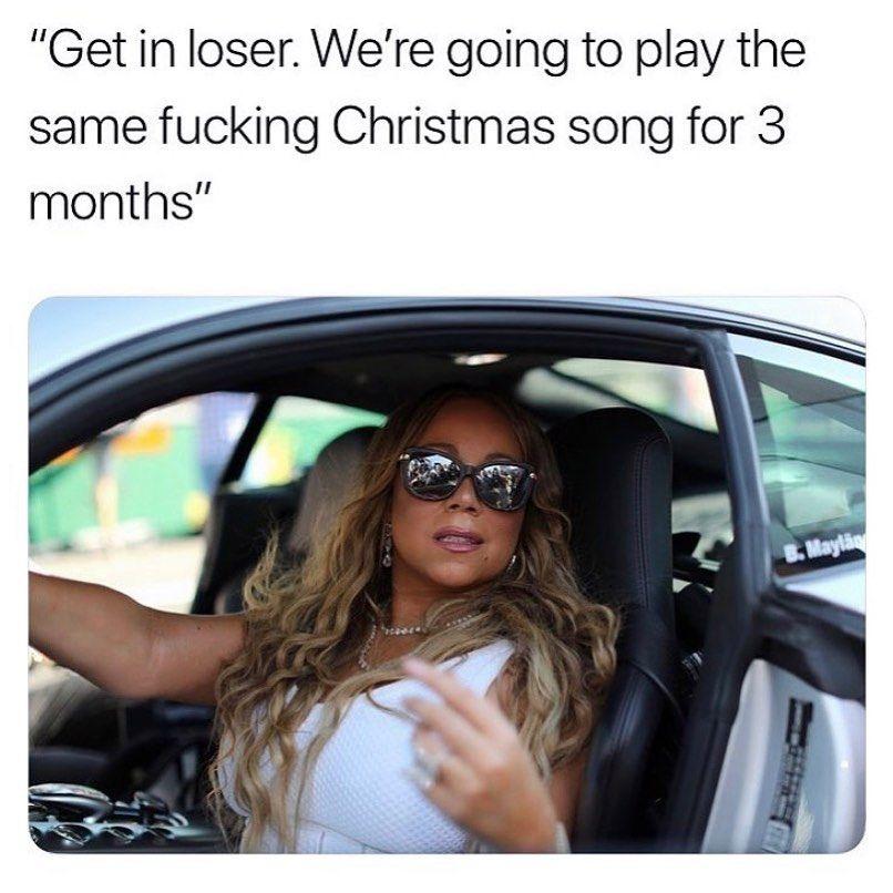 Tis The Season Mariahcarey Alliwantforchristmasisyou Christmas Winter Merrychristmas Getinloser Christmas Song Mariah Carey Music Memes