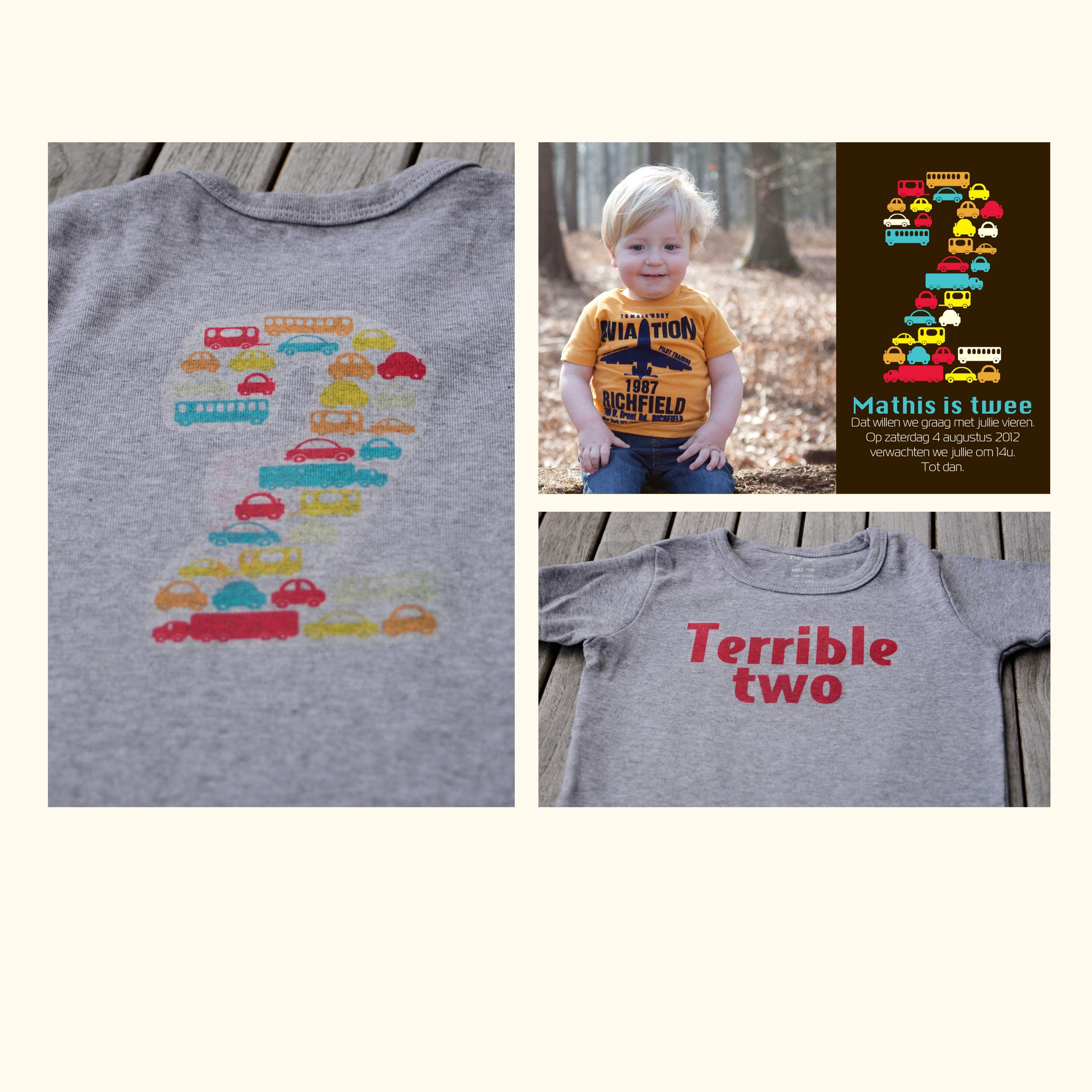 T-shirt gebaseerd op uitnodiging