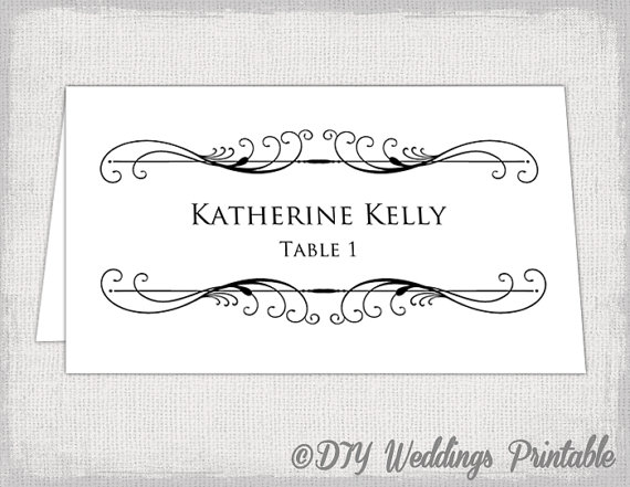 Printable Place Card Template Tent Name By Diyweddingsprintable 8 00 Free Place Card Template Card Templates Printable Place Card Template