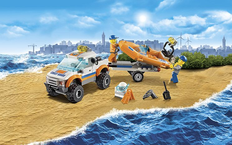 LEGO CITY 60012 4x4 /& Diving Boat New