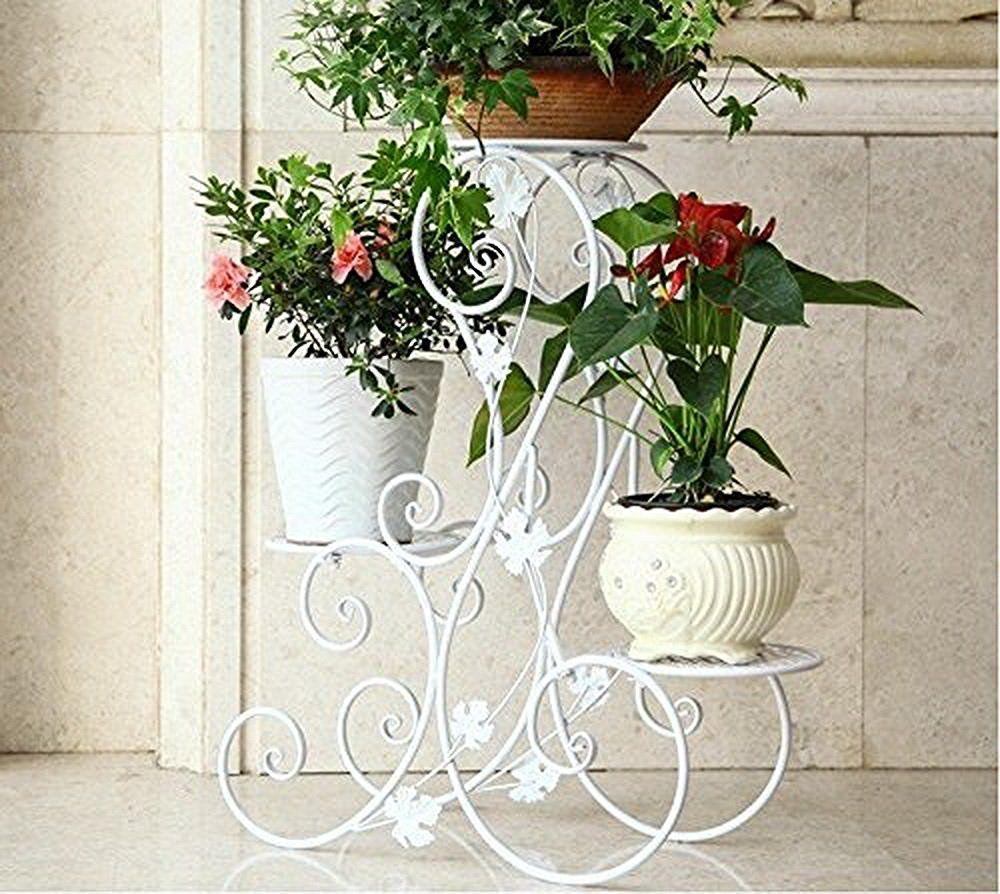 tag re de pots de fleurs plantes avec 3 corbeilles. Black Bedroom Furniture Sets. Home Design Ideas