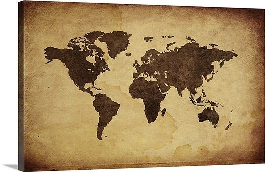 Close up of antique world map | Wall maps, Walls and House