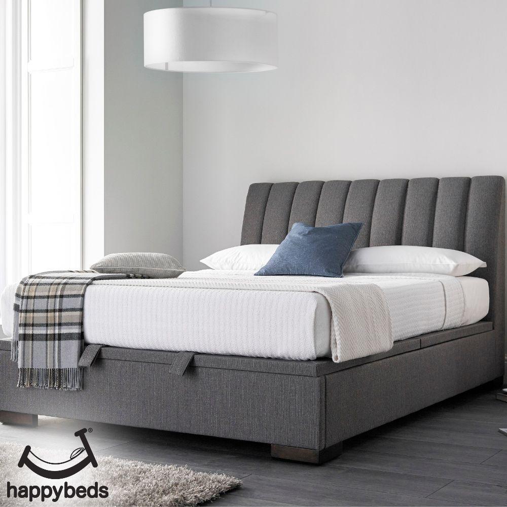 Lanchester Elephant Grey Fabric Ottoman Storage Bed In 2020 Ottoman Storage Bed Bed Frame With Storage Ottoman Bed