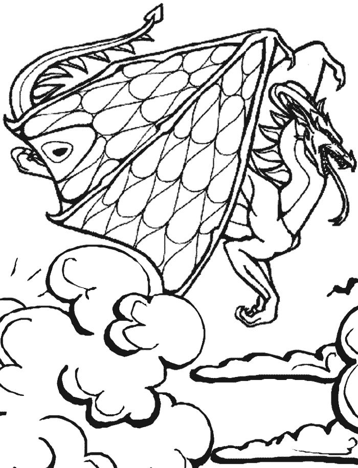 dragon fairy coloring page