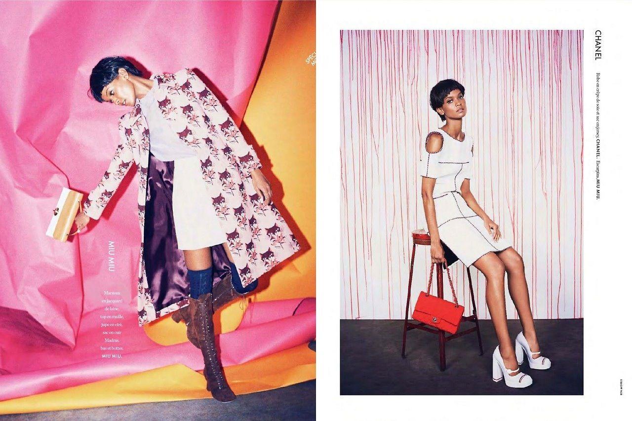 "Liya Kebede in ""Free Liya"" photographed by Ben Morris for Elle France February 2014"
