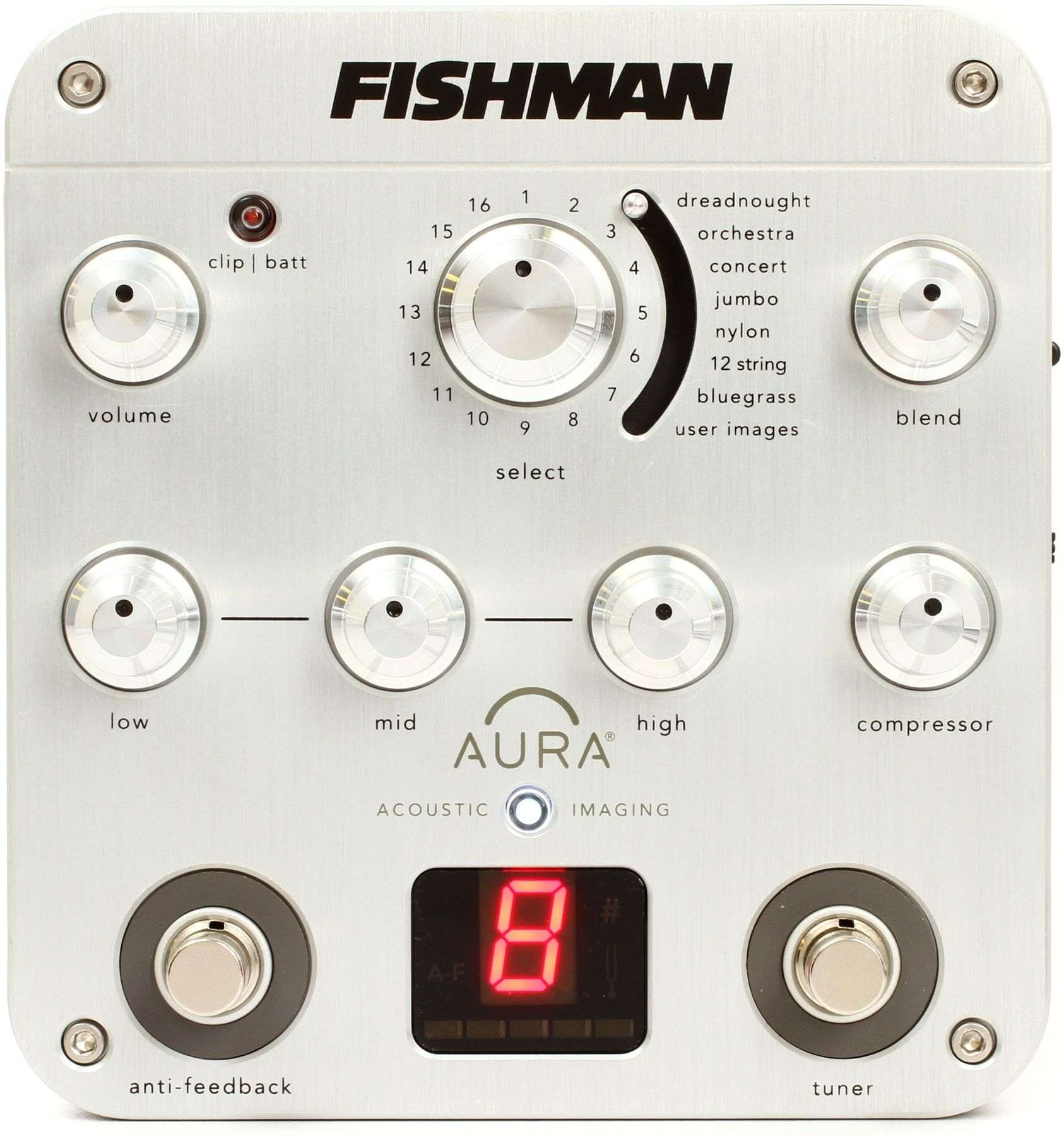 Fishman Aura Spectrum Di Imaging Pedal With D I Acoustic Guitar Effects Guitar Effects Pedals