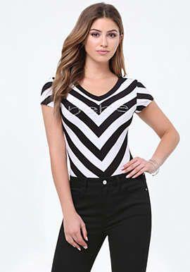 85a8b8e1fc8 Logo Striped Bodysuit