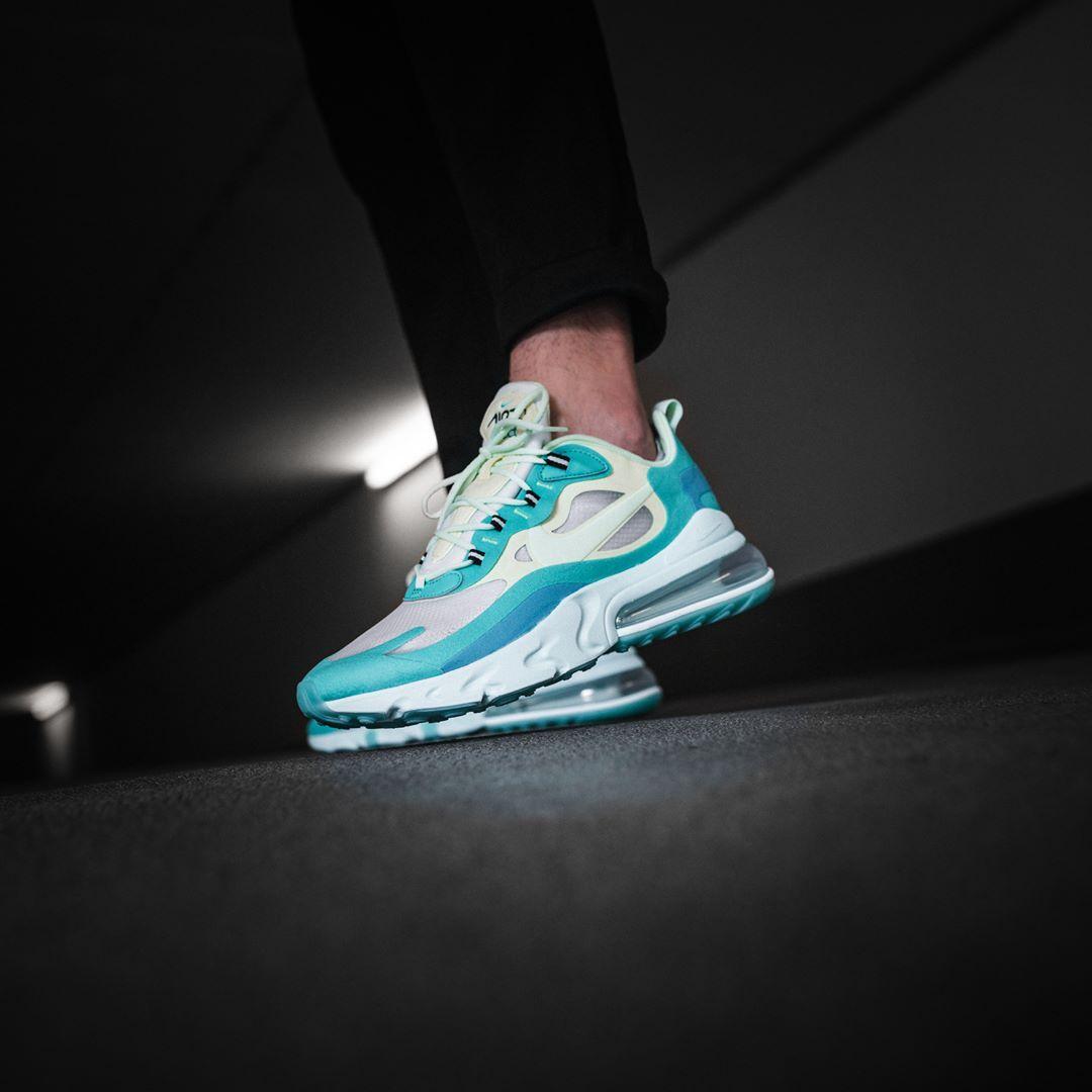 Nike Air Max 270 React In Blau Ao4971 301 Everysize Sneakers Mode Modestil Nike Air Max