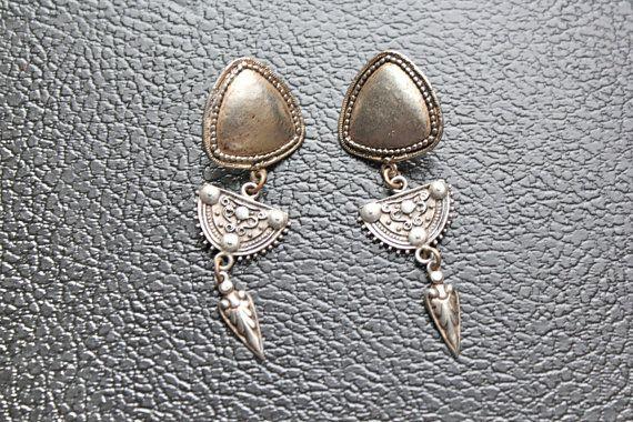Bohemian Tribal Earrings by CrucibleCrow on Etsy