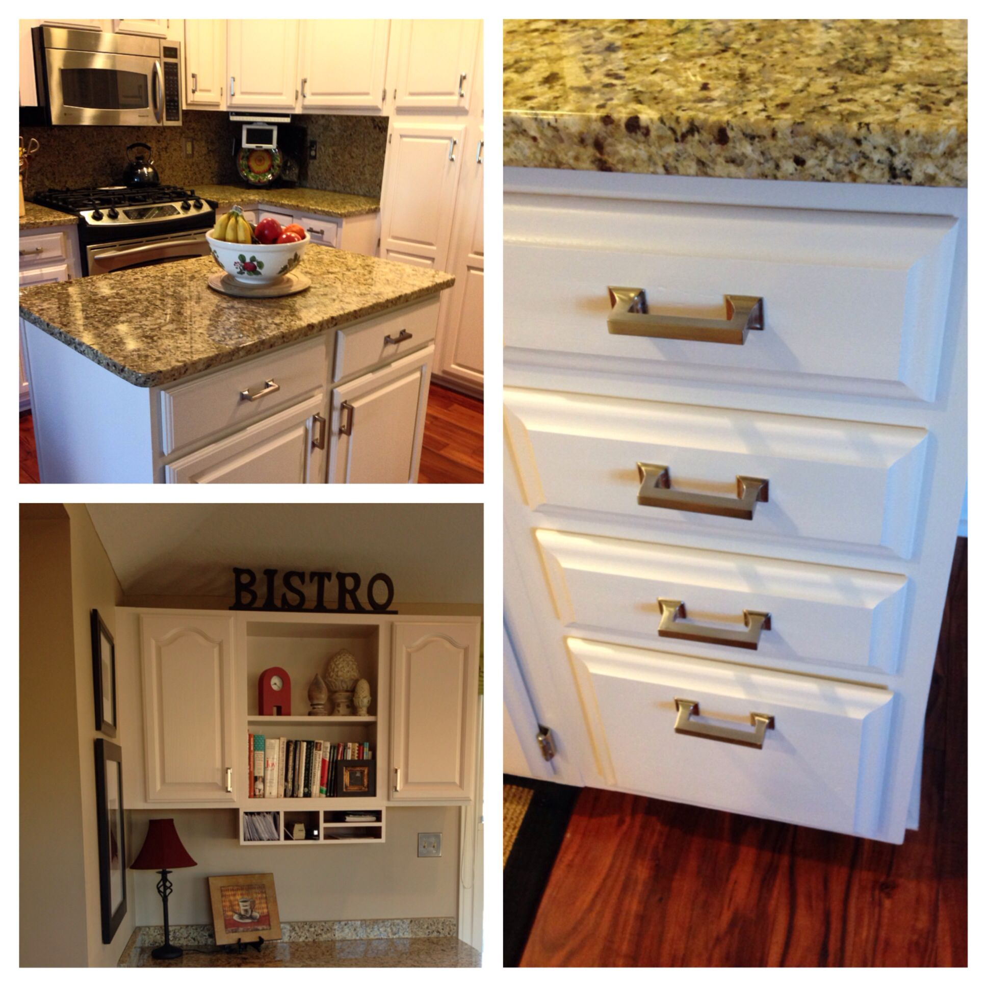 With a little paint and new brushed nickel pulls My ...