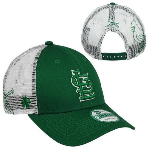a39194f37e30a1 New Era St. Louis Cardinals 9FORTY St. Paddy's Day Mesh Mode 2 Adjustable  Hat