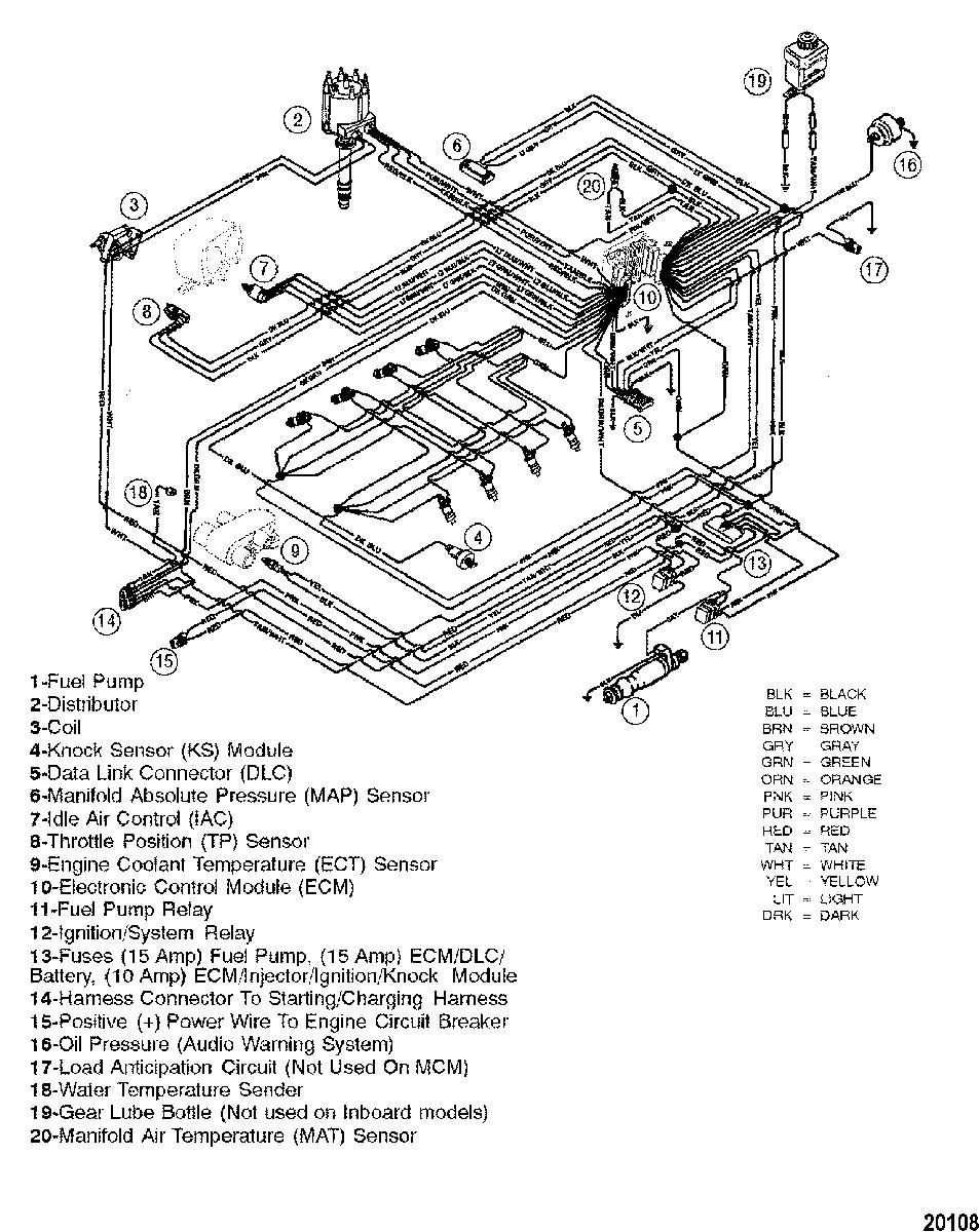 Mercruiser 454 Mag Mpi Bravo Gen Vi Gm 454 V 8 Wiring Harness Efi Map Sensor Electrical Diagram Diagram