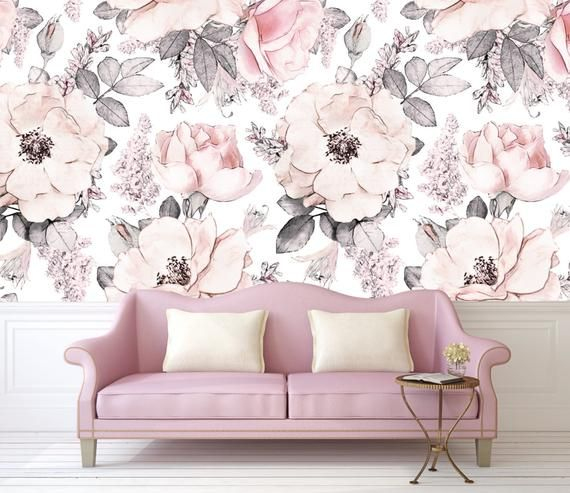 Snowy Rose Removable Wallpaper Mural