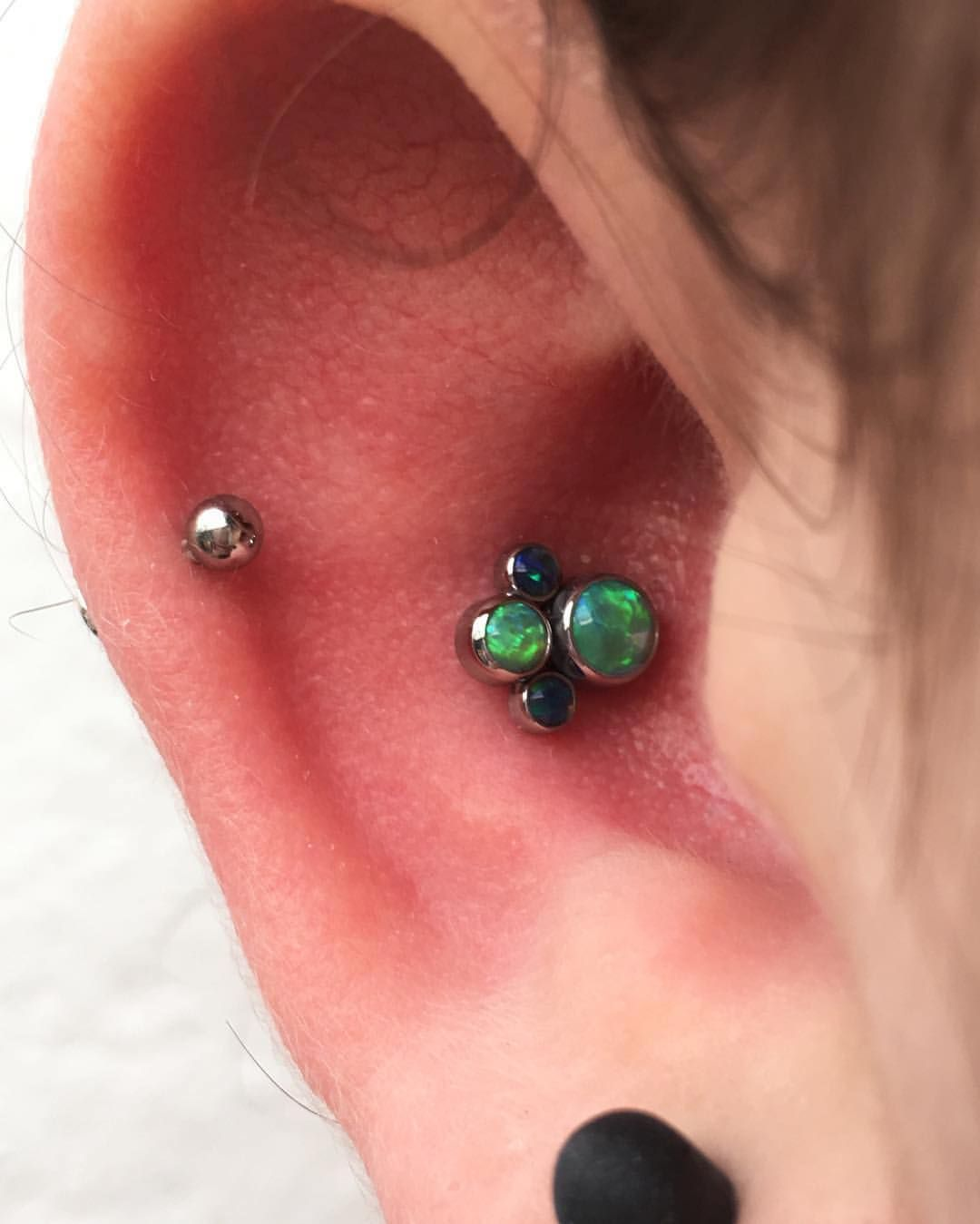 Got to upgrade this awesome little conch with this sweet @anatometalinc cluster. #oldlondonroad #oldlondonroadtattoos #opal #opals #cluster #conch #body #bodypaint #bodyart #bodypiercer #bodypiercing...