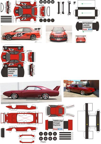 Paul Walker Set Cars Www Minimodel Cz Minimodel Cz ペーパーモデル ペーパークラフト 紙