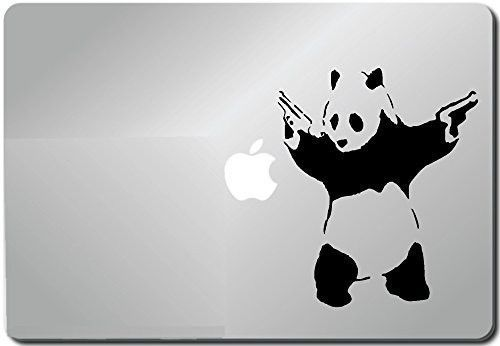 Shooting Panda-apple Macbook Ipad Laptop Vinyl Decal Sticker Skin Cover Compu...