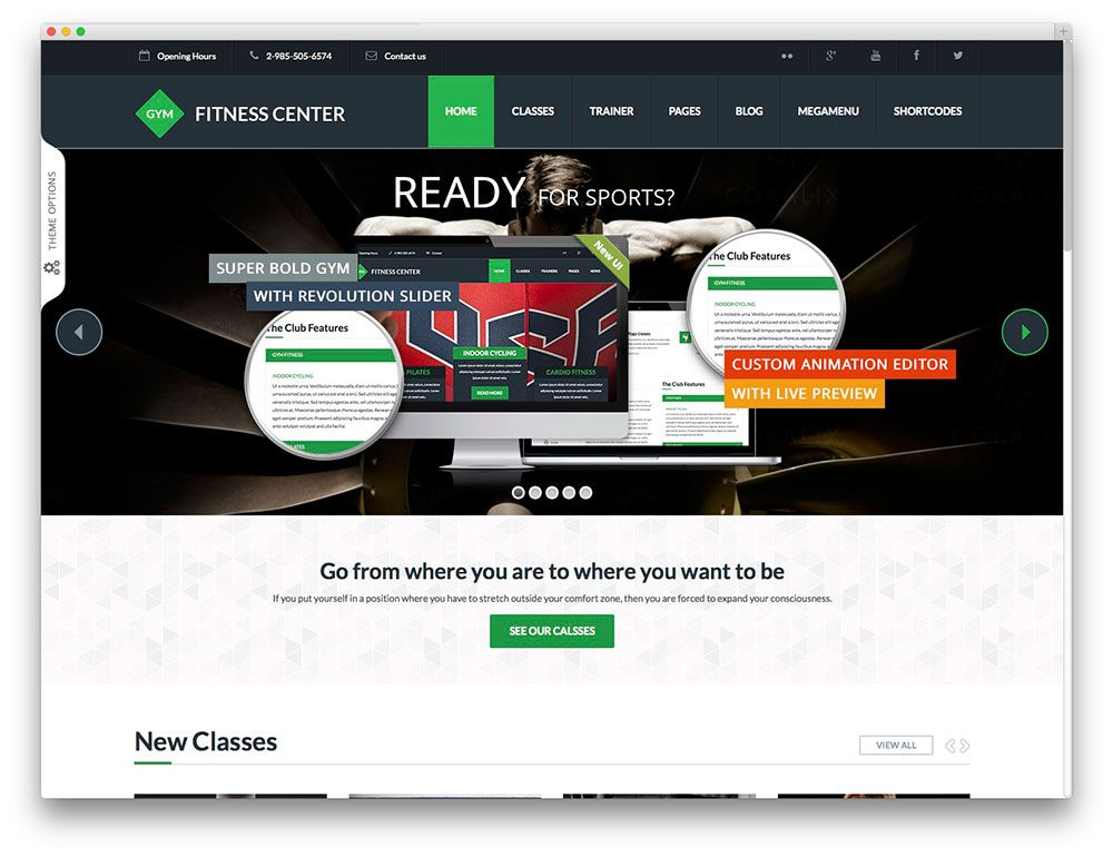 Gym - fitness template | Website Design Inspirations for Gyms ...