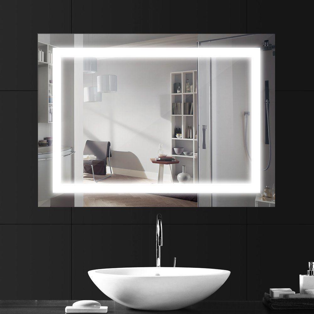 Bathroom Mirror Illuminated Makeup Bedroom Dressing Room Led