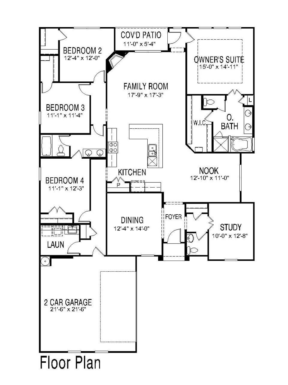 Room Floor Plan Designer Free: 1 Story, 4 Bed/2.5 Bath