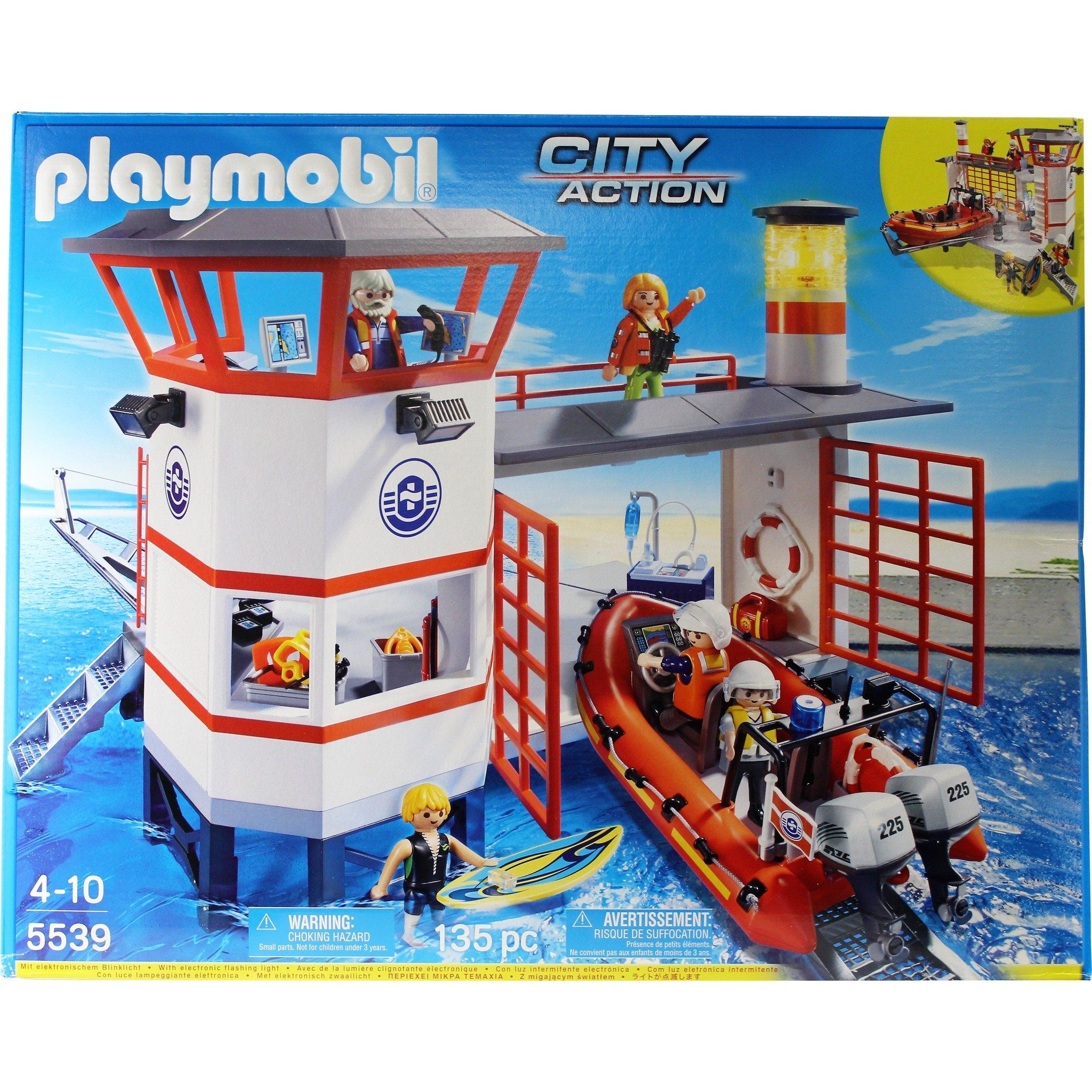 Playmobil 5539 Coast Guard Station With Lighthouse Play Set Playmobil Play Mobile Ebay