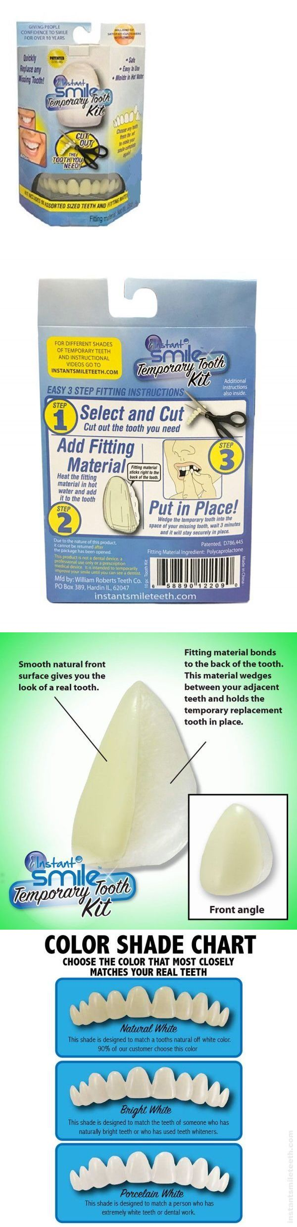 Instant Smile Teeth Replacement Kit Easy Temporary Tooth Fix Natural