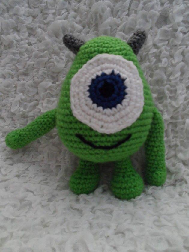 Cómo hacer a Mike de Monsters en crochet   Häkeln