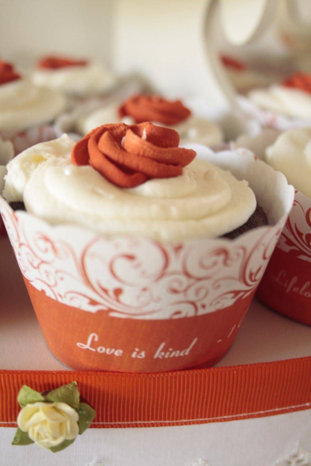 DIY cupcake wrapper - print it off with their names/date/monogram