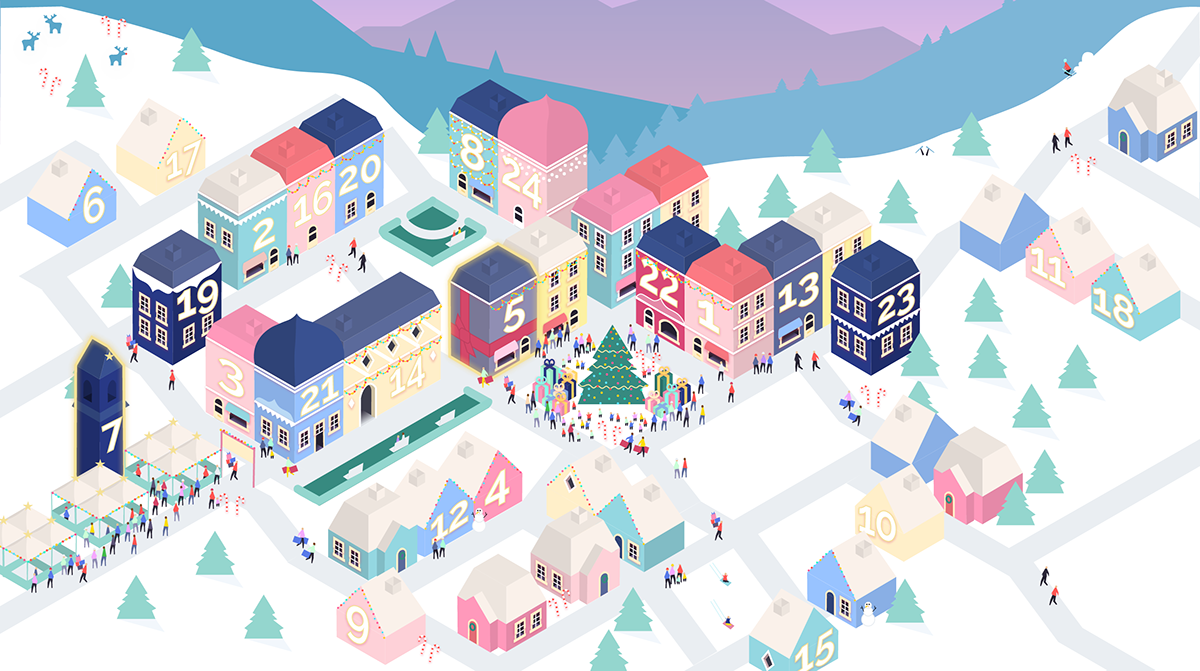 Interactive Christmas Advent Web Calendar on Behance
