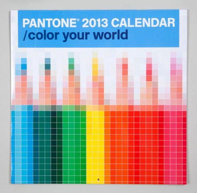 Pantone 2013 Calendar Calendar Design Wall Calendar Design Pantone